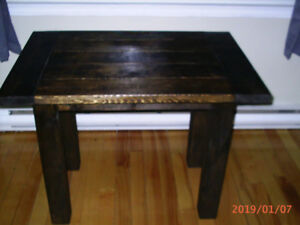solid wood newly built table