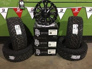 "20"" Ram Cali Off Road Rims & Fuel Mud Tire & 2"" Lift Package"