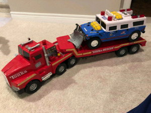 2000 Tonka Police Rescue Hummer and Tractor Trailer