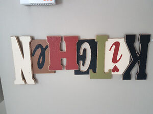 Wooden Kitchen wall hanging