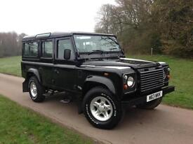 2000 Land Rover Defender 110 County Station Wagon Td5 11 Seater *Java Black*