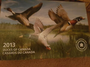 2013 Ducks of Canada coin set