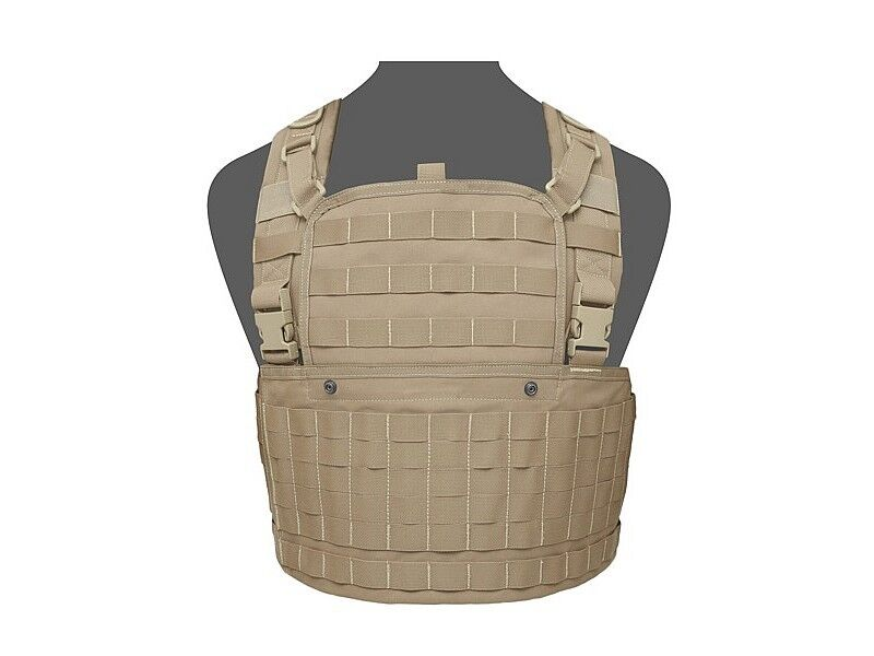 WARRIOR ASSAULT SYSTEMS 901 CHEST RIG WITH FRONT ZIPPER MOLLE PLATFORM MULTICAM