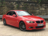 BMW 320 2.0 2008MY i M Sport CONVERTIBLE IN IMOLA RED PX SWAP FINANCE AVAILABLE