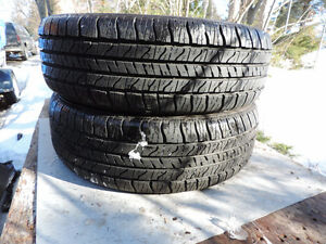 Pair of Goodyear Allegra Snow Tires 205 70 15