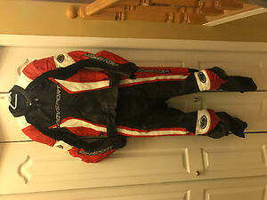 Full leather 2 piece motorcycle race suit