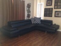 L sectional leather couch