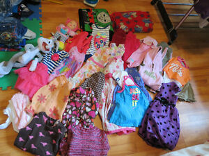 little girls clothes and toys