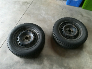Set of 4 Winter tires and rims 4x100 15 inch