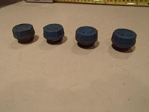 4 Pcs Vintage Screw In Battery Caps. Blue FILL TO TUBE BOTTOM Sarnia Sarnia Area image 2