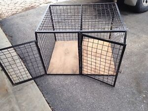 Custom wire crate that fits smaller SUVs - accommodates 2 dogs