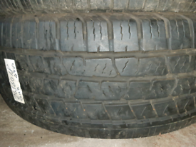 265 60 18 part worn tyre continental used tire