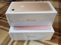 iPhone 7 128GB unlocked GOLD AND ROSE GOLD SEALED BOXES
