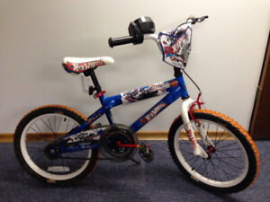 "Great gift! Hot Wheels BMX, 18"" wheels, Deluxe paint, tachometer"