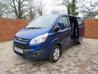 FORD TRANSIT CUSTOM L2 H1 DOUBLECAB LIMITED LWB 125 BHP AIR CON 6 SEATS