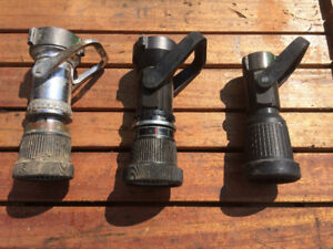 FIRE HOSE NOZZLES 1.5, 2, AND 3 INCH HOSE FITTING