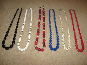 Beaded Necklaces ( 1950's - 60's - 70's )