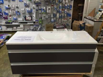 Bathroom Vanities Yatala imperfect direct importer cenovo 1200 porcelain top twopac vanity