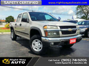 2008 Chevrolet Colorado Crew LT | 4X4 | SAFETY CERTIFIED