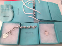 Tiffany and CO bracelet and charm for sale