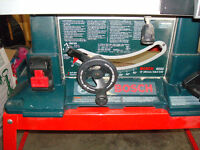 "10"" Bosch Table saw C/W Stand"