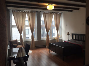 NEWLY RENOVATED LOFT FOR RENT IN THE HEART OF OLD PORT