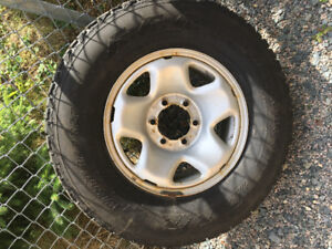 Firestone Winterforce P245/75R16  with Rims