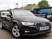 2014 AUDI A3 1.4 TFSI SPORT 6 SPEED MANUAL CABRIOLET PETROL CONVERTIBLE PETROL