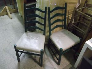 Green dining chairs country style X8