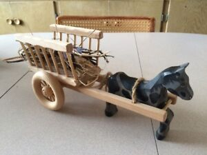 Waldorf Inspired Wooden Horse and Cart by Jalu Toys