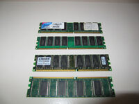 Two 1 GB. two 256 MB  RAM modules