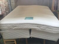 King size bed with mattres
