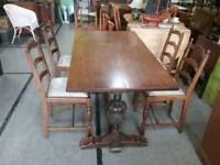 SALE NOW ON! Oak Dining Table & Set Of Four Chairs -Can Deliver For £19