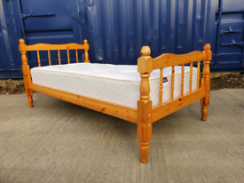 Sturdy single bed with mattress