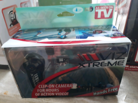 NEW Viz Xtreme Clip on Camera Camera with Action Kit hands free