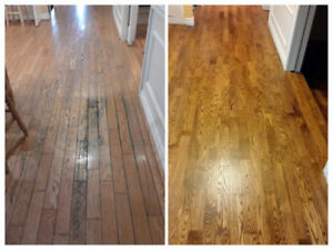 "Refinishing or ""Buff N' Coat"" - Hardwood Floor & Stair Case"