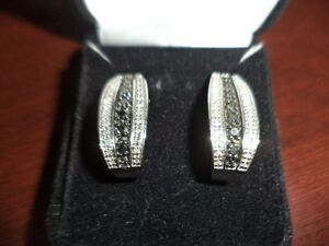 .50 ct Black and White Diamond Earrings