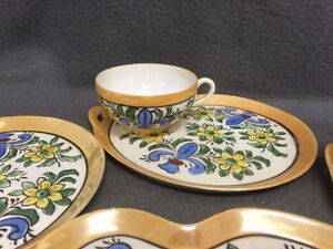 Collectible Antique Antique Hand Painted Cups & Plates London Ontario image 3