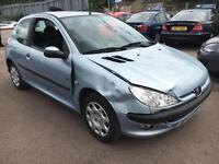 2003 Peugeot 206 1.1 8v Fever-HPI CLEAR DAMAGED - EASY REPAIR