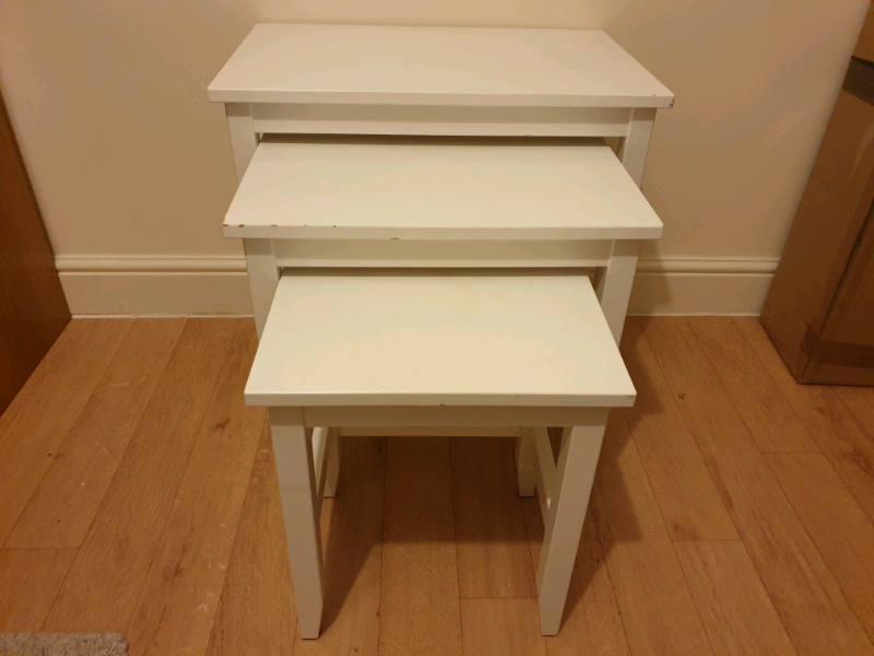 Ikea White Nest Of 3 Tables Coffee Table In Bristol