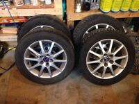 """110x5 set of winter tires and 16"""" alloy rims"""