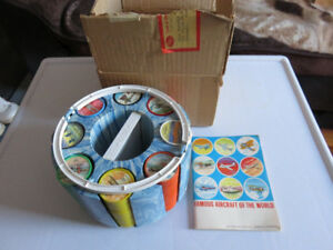 1960's Jell-O Famous Plane Fact Book & Coin Set w/ Container