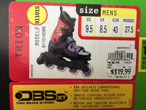 TRION Top of the line In-Line Skates Rollerblades NEW IN BOX