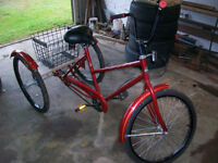 I HAVE A 3 WHEELER IN NEW COND HUFFY  3 SPEED