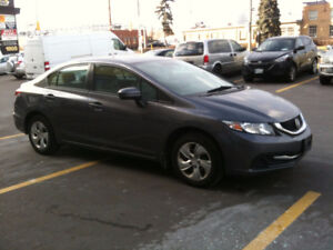 2014 Honda Civic LX Sedan. Certified. Low KMs. No Hidden Charges