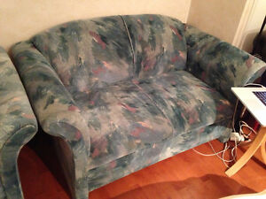 Vintage Couch (Loveseat) and Armchair for Sale
