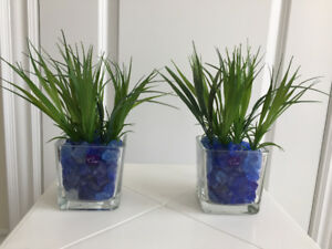 Artificial green plants with Pots  $7 each