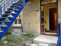 Chambre dans 4 1/2 Plateau Mont-Royal, rdc avec cours privée!