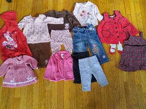 6-12 and 9-12 month girls' clothes - $1 each