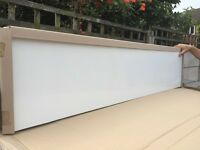 White gloss bathroom worktop - brand new